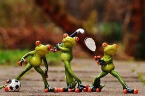 urheilulliset sammakot